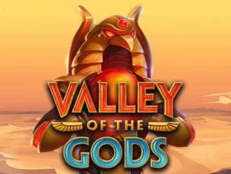 логотип игрового автомата valley of the gods от yggdrasil